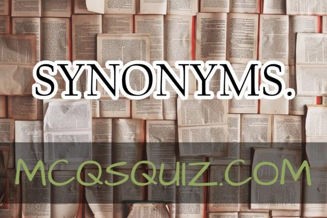 SYNONYMS (Z)