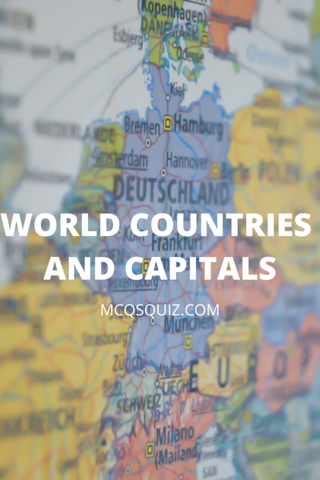 World Countries and Capitals