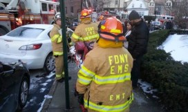 Only one small injury was sustained by an FDNY firefighter who was cut on the hand.