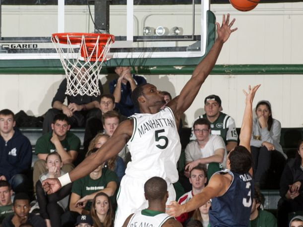 Rhamel Brown has 86 blocks this season, and for the third time this season, blocked a crucial shot in the waning seconds of a close game. Photo courtesy of gojaspers.com