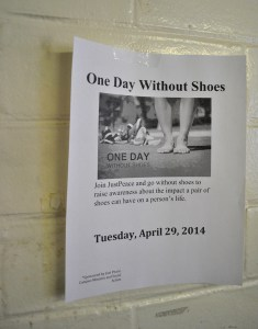 A poster advertising the day-long event. Photo by Kyleigh Panetta.