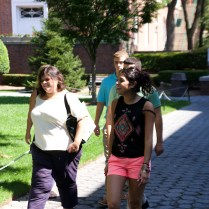 College tours for prospective students resume on a full and vibrant campus.
