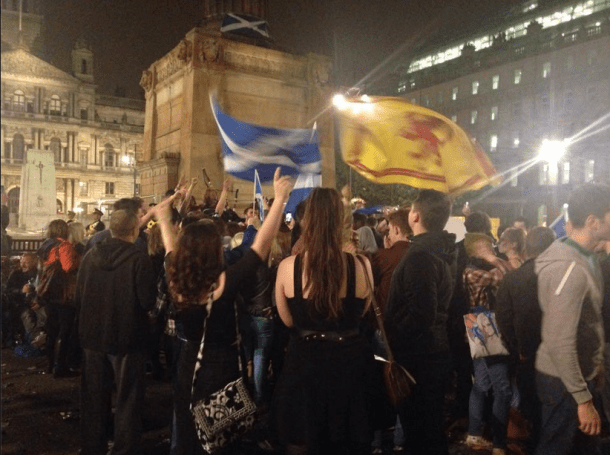 Students studying abroad in Scotland witnessed the turmoil surrounding the referendum on Scotland's independence last month. Photo by Dominika Iszczek.