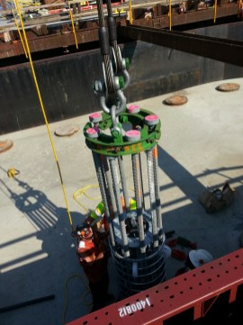 Rosso designed this piece of equipment to help set the rebar into place. Photo Courtesy of Alessandra Rosso.