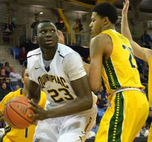 Ousame Drame will be a crucial piece for Quinnipiac this season. Photo by Bryan Lipiner.