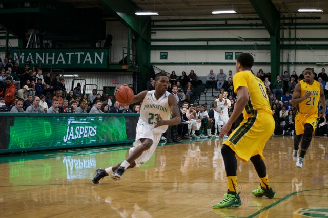 Rich Williams scored all 13 of his points in the first half, giving the Jaspers a much needed lift with Ashton Pankey forced to sit out most of the first half because of foul trouble. Photo by Kevin Fuhrmann.