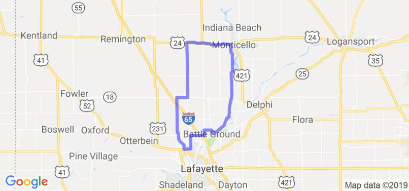 Lafayette Area Route 1 Ref