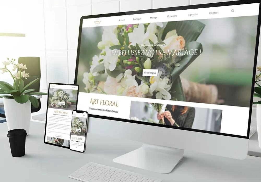 Création site web Avalanche de fleurs- web designer
