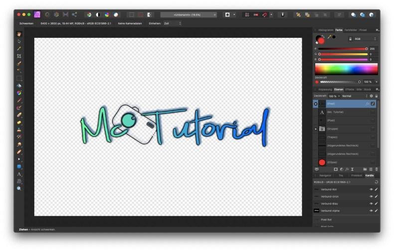 Affinity Photo – dein eigenes Logo ganz einfach erstellen