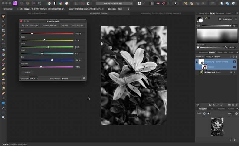 Affinity Photo - mit Masken und Filtern arbeiten