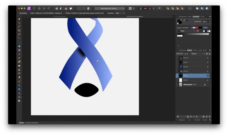 Affinity Photo - Zeichenstift und Knotenwerkzeug