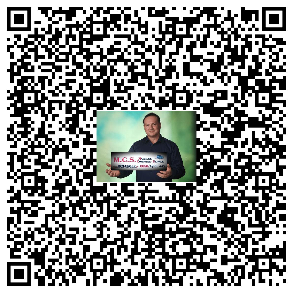 QR Code Visitenkarte MCS-UNGER