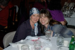 Patti with our lovely niece Jami at a recent family gathering. The support from loved ones has been amazing.