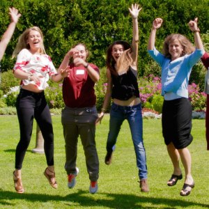 Image of Interns having fun