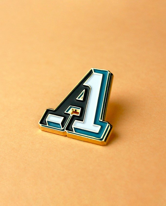 A initial Character Collection enamel pin