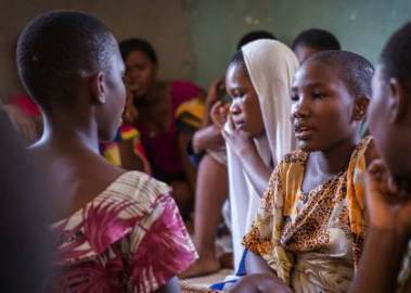 Adolescent girls in a BRAC Tanzania program. Photo credit: BRAC Tanzaniz