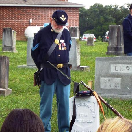 Michael Downs showing respect as Guard of Honor