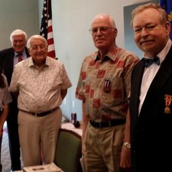 George Lane New Member Richard Bendy Sam Wilson and Dept Commander David McReynolds