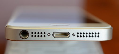 Lightning port: where users transfer power and data