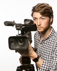 A legal videographer shooting a day in the life video