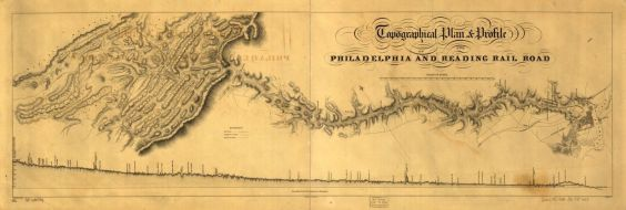 1838 Topographic plan for the Philadelphia and Reading Railroad