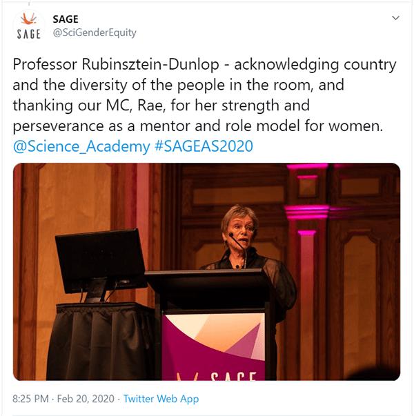 Professor Halina RUbinsztein-Dunlop celebrated STEM women role models.