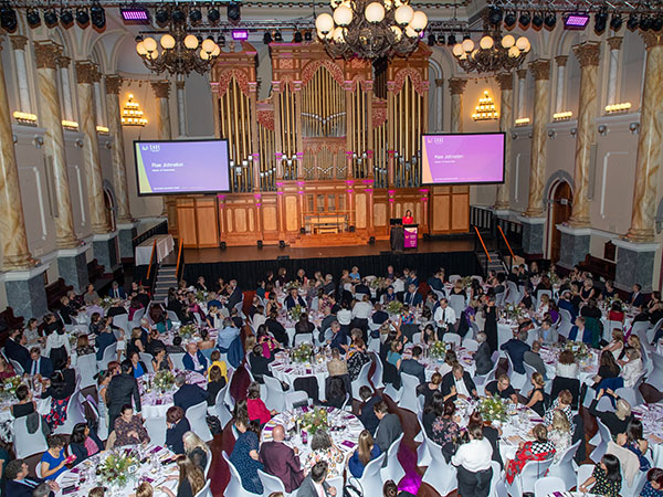 The SAGE Awards Dinner filled Adelaide Town Hall with excited guests..