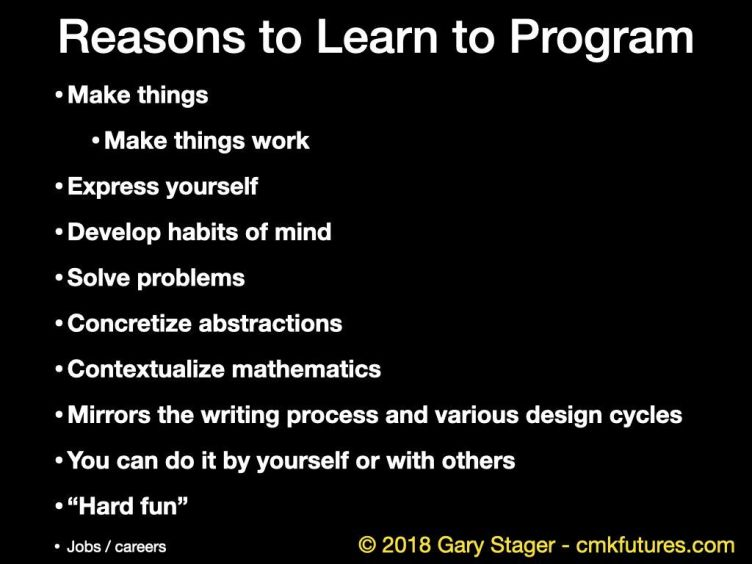 reasons to program