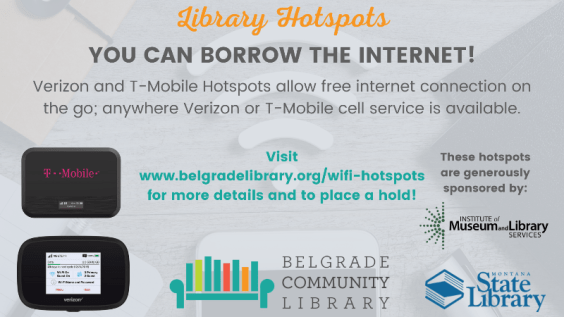 You can borrow the internet with WiFi Hotspots!