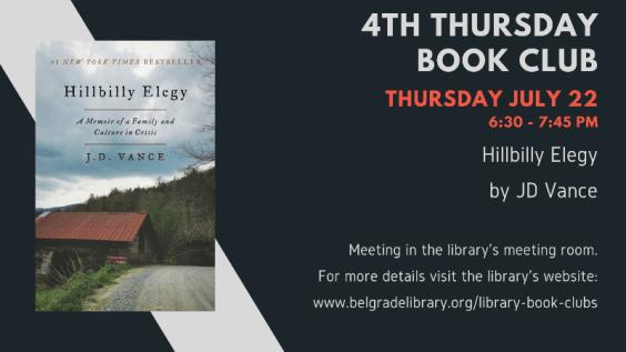 4th Thursday Book Club Announcement