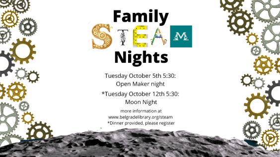 Family STEAM Open Maker Night October 5th 5:30 PM