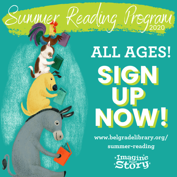 Summer Reading Program all ages sign up
