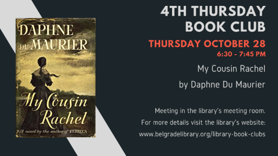 4th Thursday Book Club October 28 at 6:30 PM