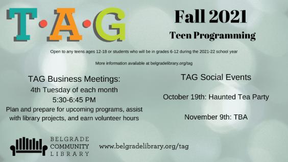 Fall 2021 Teen Programming