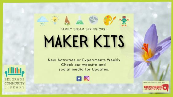 Spring Family STEAM Maker Kits