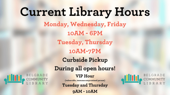 Extended summer hours at the library