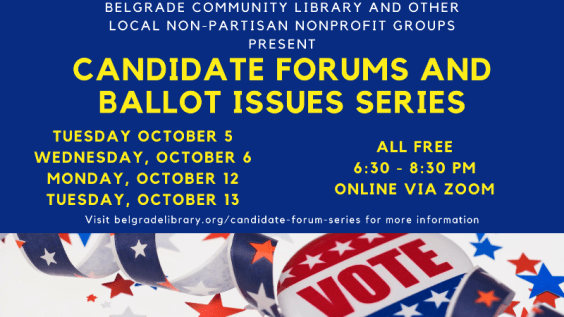 Candidate Forums and Ballot Issues Info