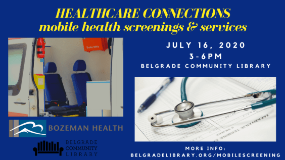 HealthCare Connections At library July 16