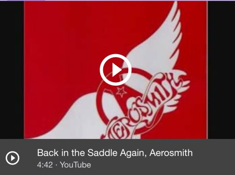 Aerosmith, Back in the Saddle Again YouTube video