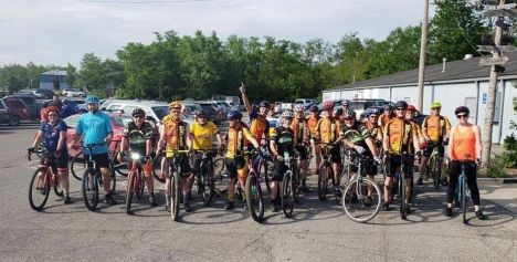 Team Hometown Bicycles shop ride