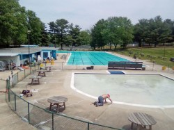 View of Baby pool and main pool
