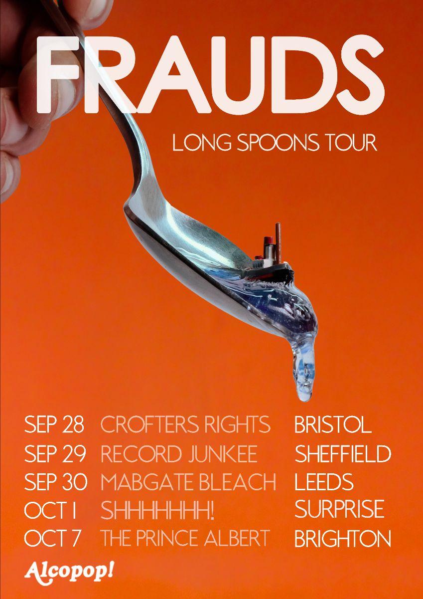 FRAUDS tour poster