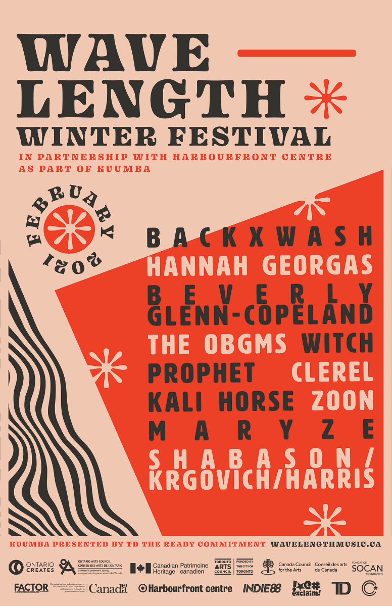 Wavelength Winter Festival 2021 poster