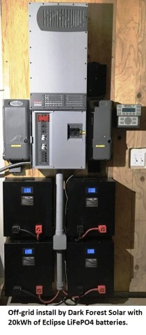 Off-Grid install with Eclipse batteries