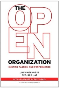 """open source strategy book: """"The Open Organization"""" by Jim Whitehurst"""