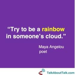 Maya Angelou optimism quote
