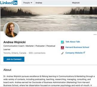 Andrea Wojnicki on LinkedIn