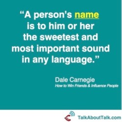 dale carnegie quote name naming identity