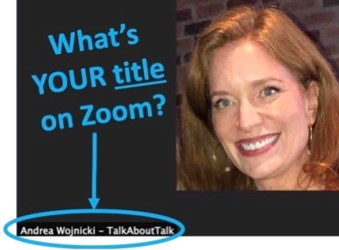what's your zoom title? personal brand