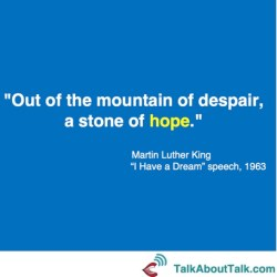Martin Luther King optimism quote